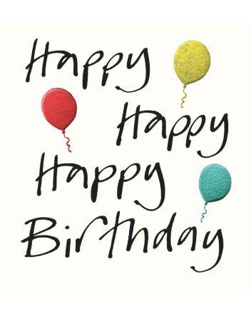 Lucilla Lavender Balloons Happy Birthday Card
