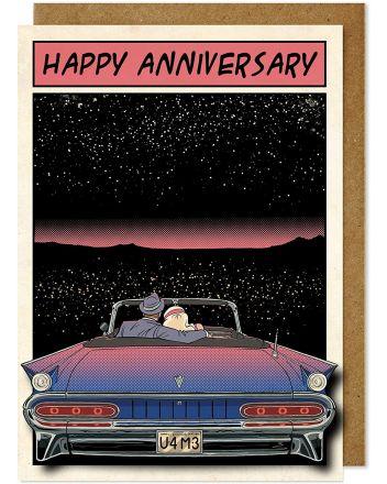 Tache Starry Night Car Greeting Card