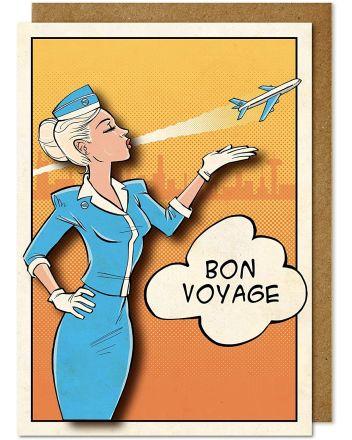 Tache Bon Voyage Greeting Card