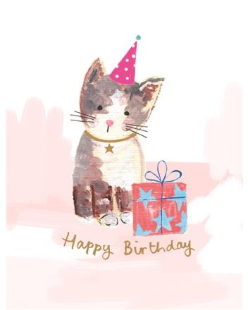 Paper Salad Bella and Max Cat Birthday Card