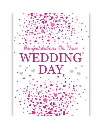 Tracks Congratulations On Your Wedding Day Card