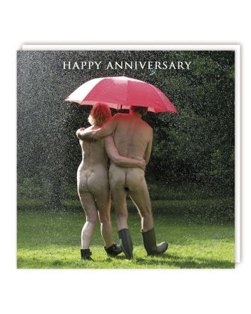 Tracks Under The Umbrella Anniversary Card