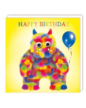 Tracks Googly Eyed Monster Birthday Card