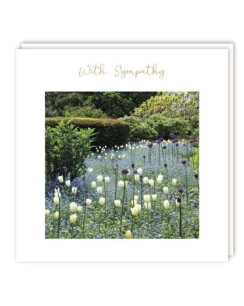 Tracks Flower Garden Sympathy Card