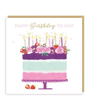 Tracks Esmee Cake Birthday Card