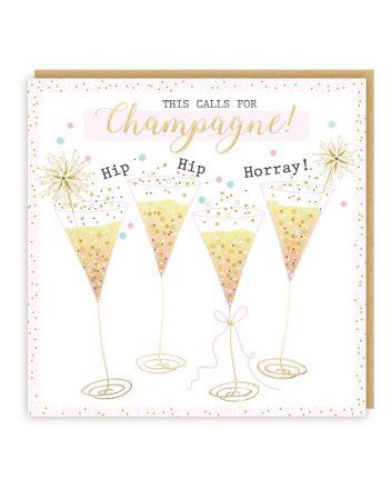 Tracks Esmee Champagne Birthday Card