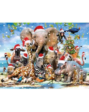 Tracks Animals in Christmas Hats Advent Calendar