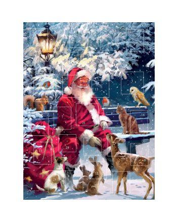 Tracks Santa on a Bench Advent Calendar