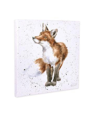 Wrendale Bushy Tailed Fox Small Canvas