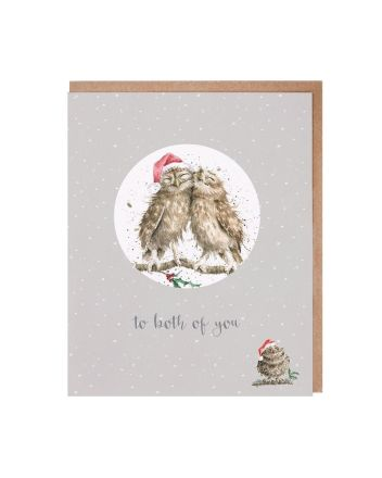 Wrendale Both of You Christmas Decoration Card