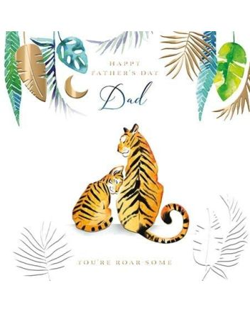 Ling Tigers Roar-Some Dad Fathers Day Card