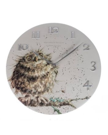 The Country Set - Owl Wall Clock