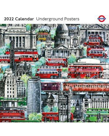 London Underground Posters 2022 Square Calendar
