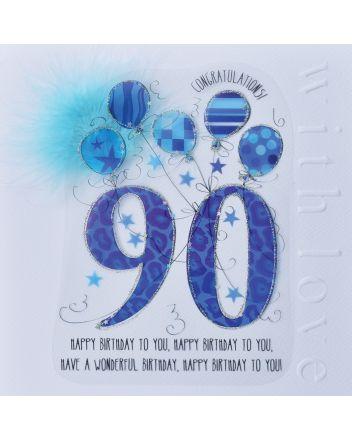 WJB Cloud 9 90th Birthday Card For Him