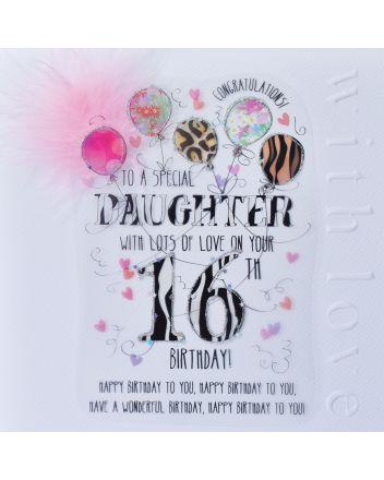 WJB Cloud 9 Daughter 16th Birthday Card