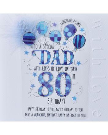 WJB Cloud 9 Dad 80th Birthday Card