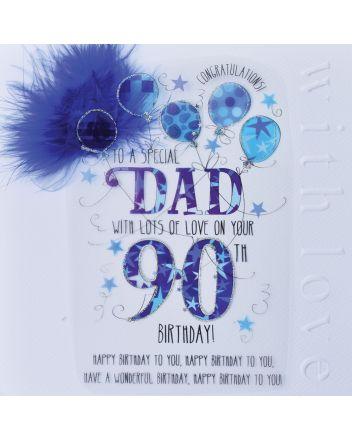 WJB Cloud 9 Dad 90th Birthday Card