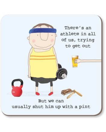 Rosie Made a Thing Athlete Pint Coaster