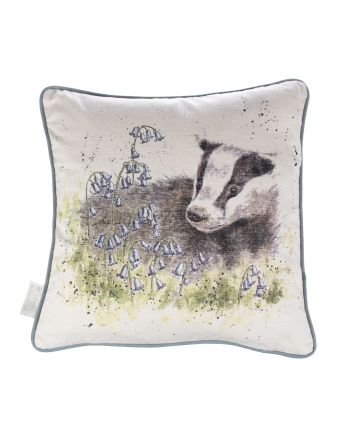 The Country Set - Bluebell Badger Feather Cushion