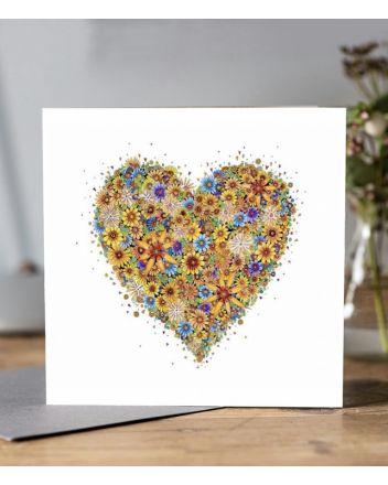 Doodleicious Sunshine Heart Greeting Card