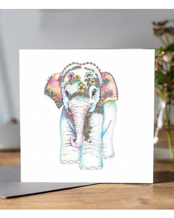 Doodleicious Baby Elephant Greeting Card