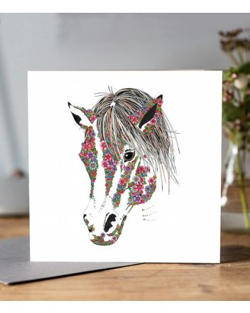 Doodleicious Horse Greeting Card