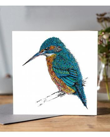 Doodleicious Kingfisher Greeting Card