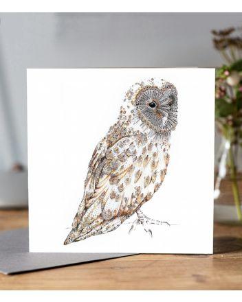 Doodleicious Barn Owl Greeting Card