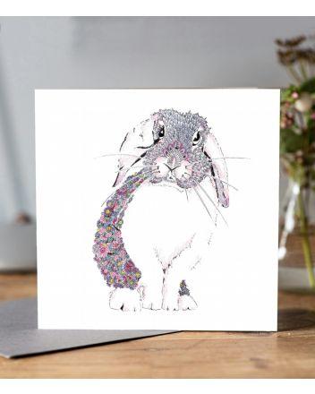 Doodleicious Rabbit Greeting Card