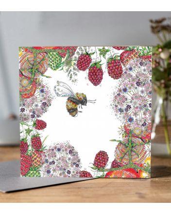 Doodleicious Walled Garden Bee Greeting Card