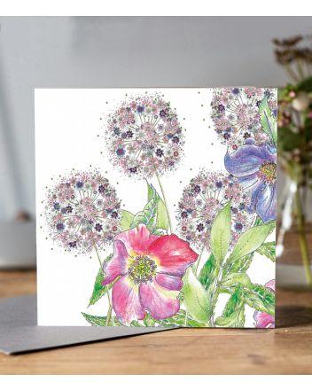 Doodleicious Flower Garden Greeting Card