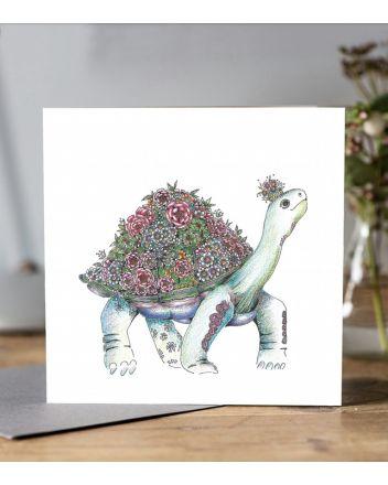 Doodleicious Tortoise Greeting Card