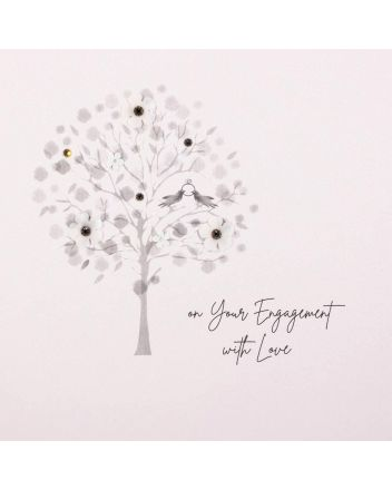 Five Dollar Shake On Your Engagement Tree Greetings Card