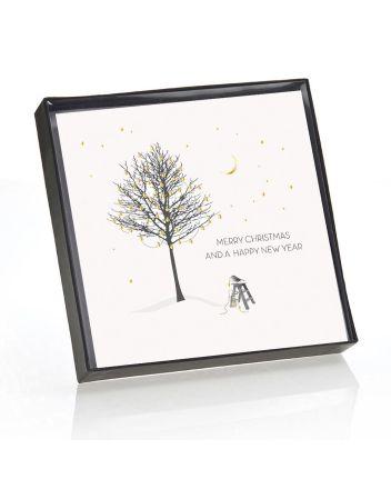 Five Dollar Shake Diamond Blush Golden Tree at Christmas Boxed Cards