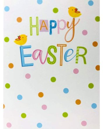Cherry Orchard Polka Dot Easter Card