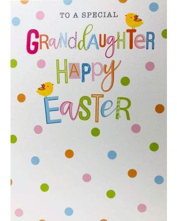 Cherry Orchard Granddaughter Polka Dot Easter Card