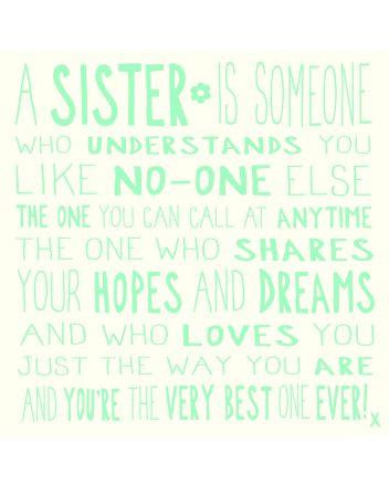 Ella Bella Rose MOL Sister Birthday Card
