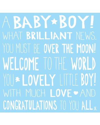 Ella Bella Rose MOL New Baby Boy Card