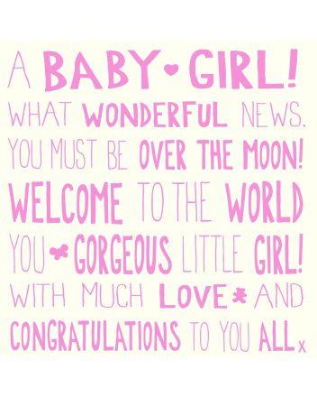 Ella Bella Rose MOL New Baby Girl Card