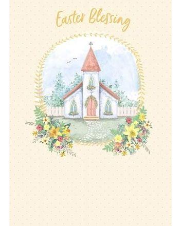 Carte Blanche Church Blessings Easter Card