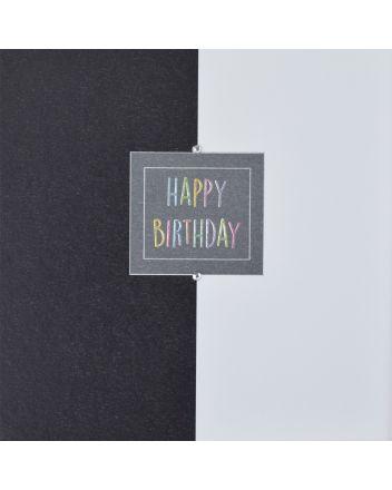 WJB Hey Fresco Black and White Birthday Card