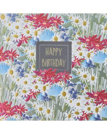 WJB Hey Fresco Flowers Birthday Card