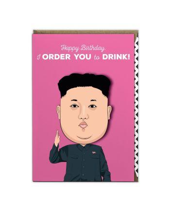 Tache Kim Jong Un Birthday Card