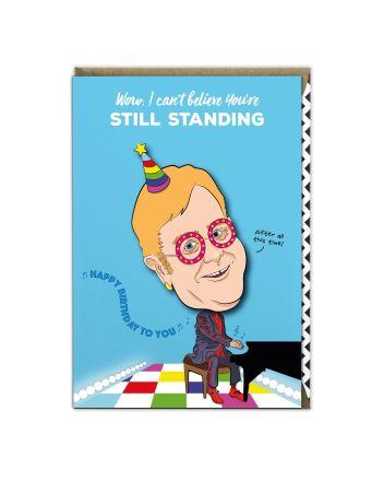 Tache Elton John Birthday Card