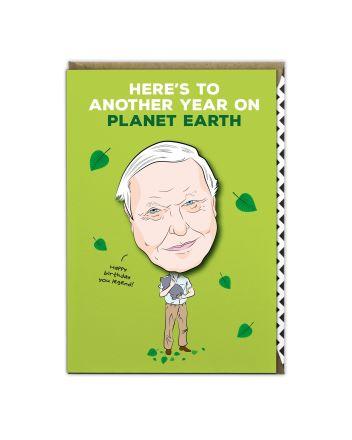 Tache David Attenborough Birthday Card