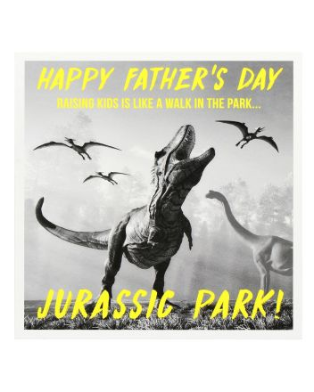 Paperlink Jurassic Park Fathers Day Card