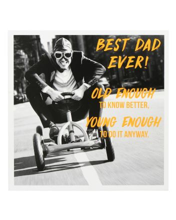 Paperlink Kart Racer Fathers Day Card