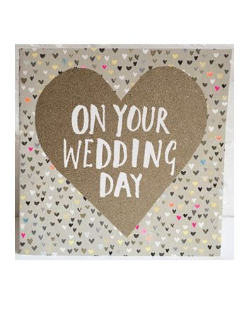 Paper Salad On Your Wedding Day Card