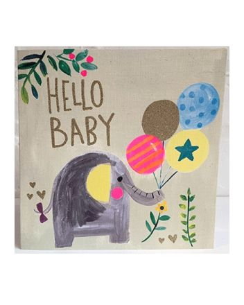 Paper Salad Elephant New Baby Card