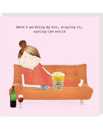 Rosie Made a Thing Saving The World Birthday Card